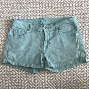 7 for all mankind cuffed shorts size 28